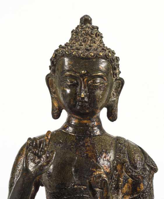 Buddha on lotus pedestal - photo 5