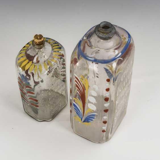2 liquor bottles with enamel painting - photo 3