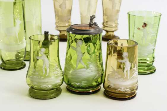9 different glasses with snow painting - photo 2