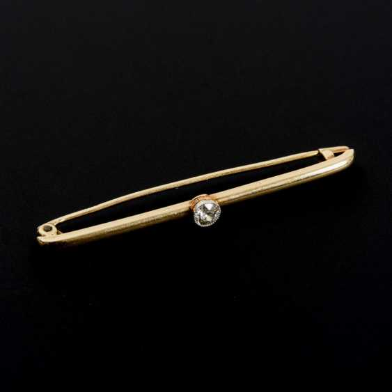 Needle with old European cut diamond - photo 1