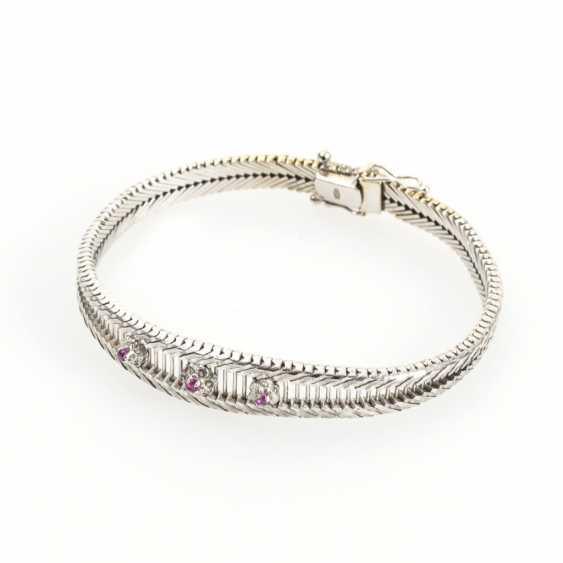 Bracelet with rubies - photo 1