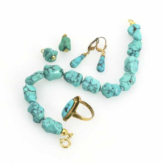 5 pieces of jewelry with turquoise - photo 1