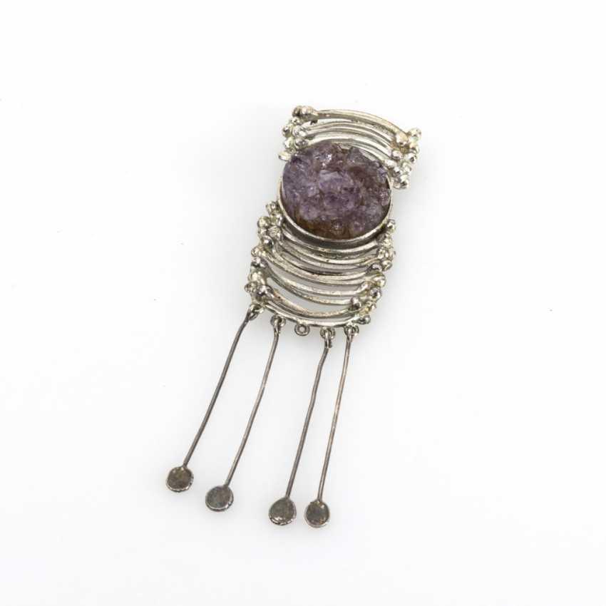 Designer pendant with amethyst step - photo 1