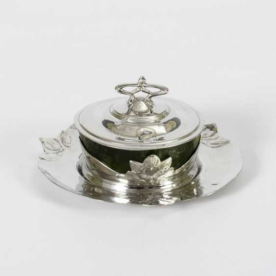 Art Nouveau silver tin jam pot - photo 1