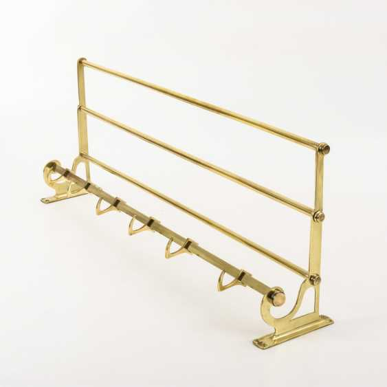Brass coat rack in the Bauhaus style - photo 1
