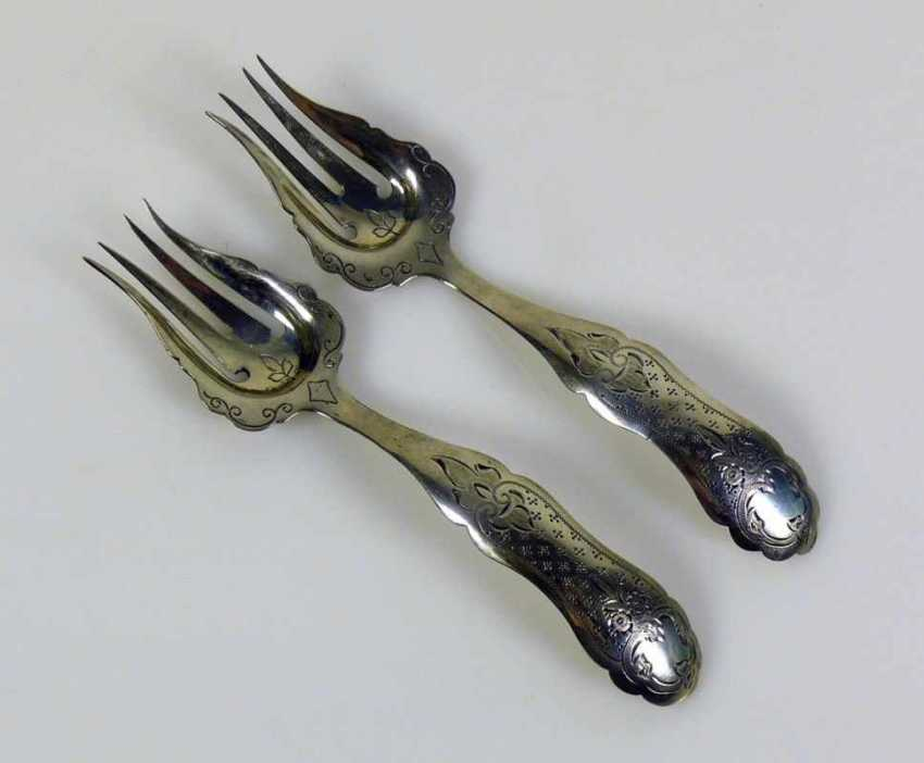 Pair Of Serving Forks - photo 1