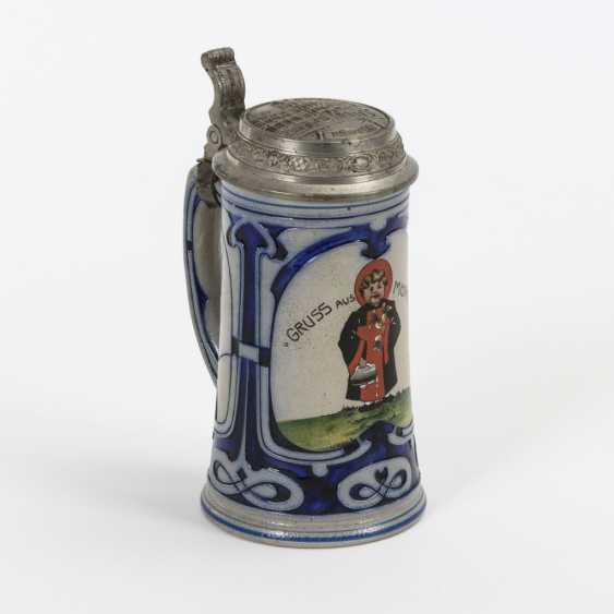"""Art Nouveau mug """"Greetings from Munich"""" - photo 1"""