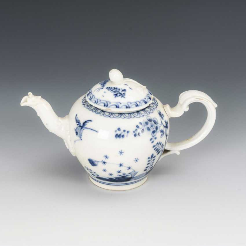 Teapot with blue painting - photo 1