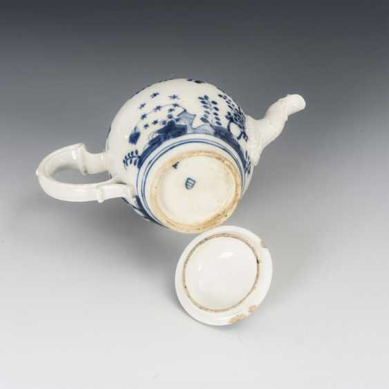 Teapot with blue painting - photo 3