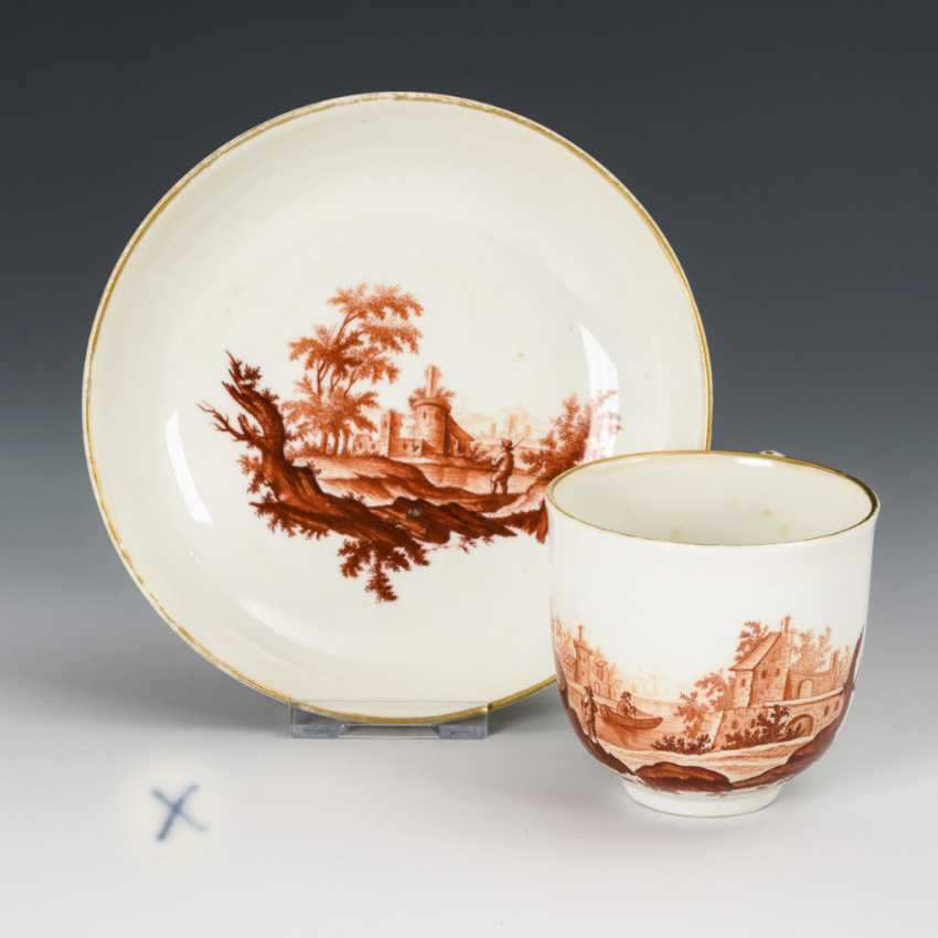 Cup with landscape painting - photo 1