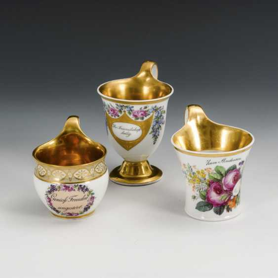 3 Biedermeier cups - photo 1