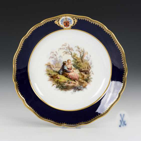 Plate with Watteau painting - photo 1