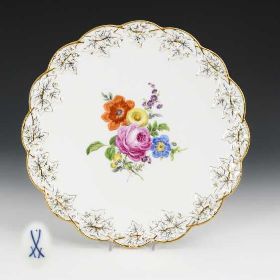 Cake plate with flower painting - photo 1