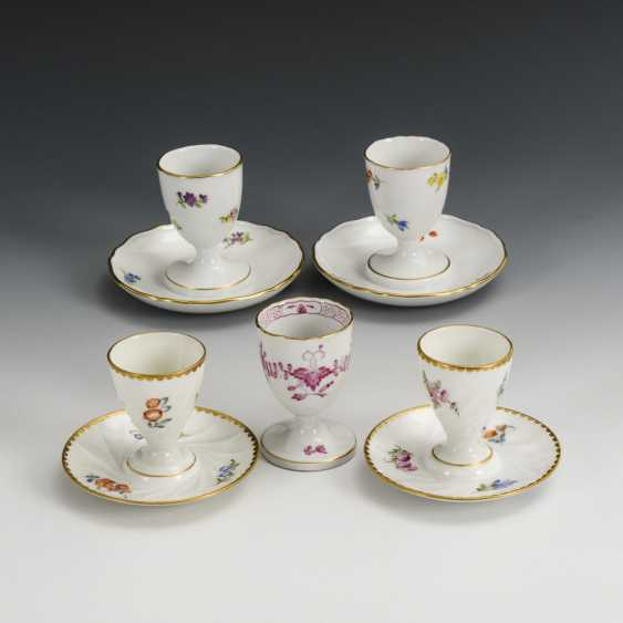 5 egg cups with flower painting - photo 1