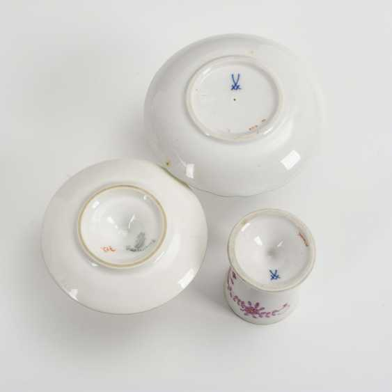 5 egg cups with flower painting - photo 2