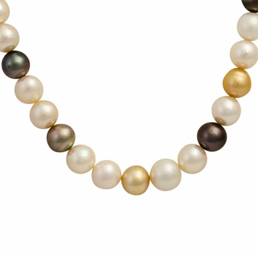 Collier made from cultured South Sea pearls - photo 2