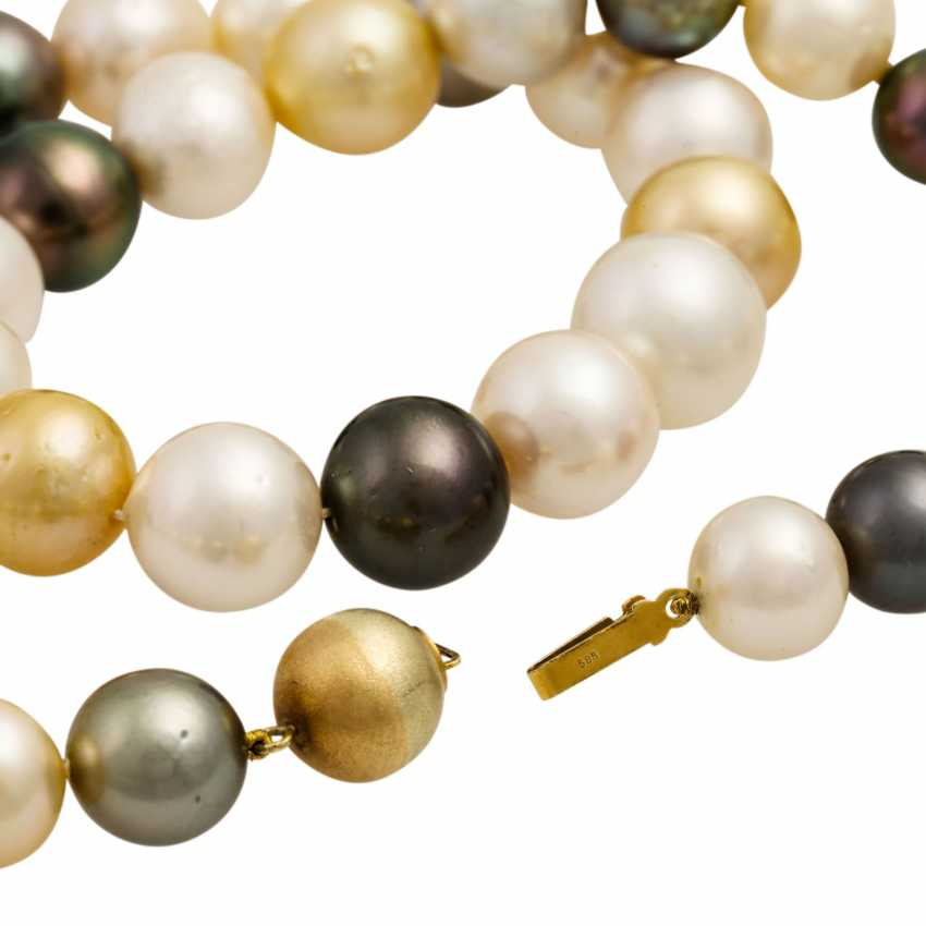 Collier made from cultured South Sea pearls - photo 5