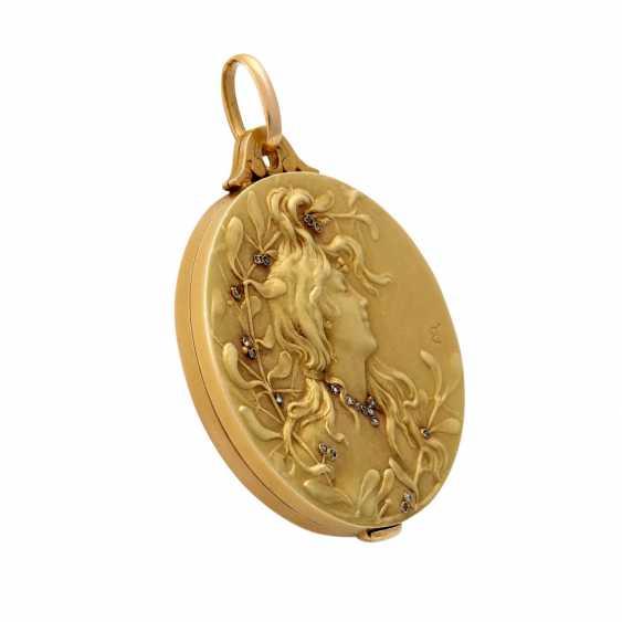 Art Nouveau medallion with mirror - photo 2