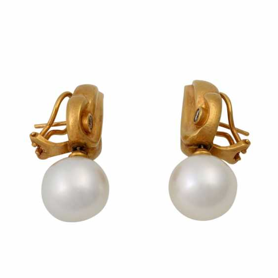 Pair of earrings with South Sea pearls - photo 2