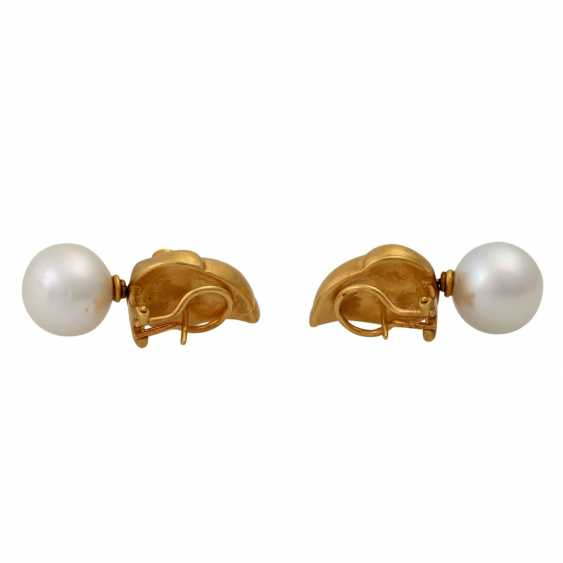 Pair of earrings with South Sea pearls - photo 4