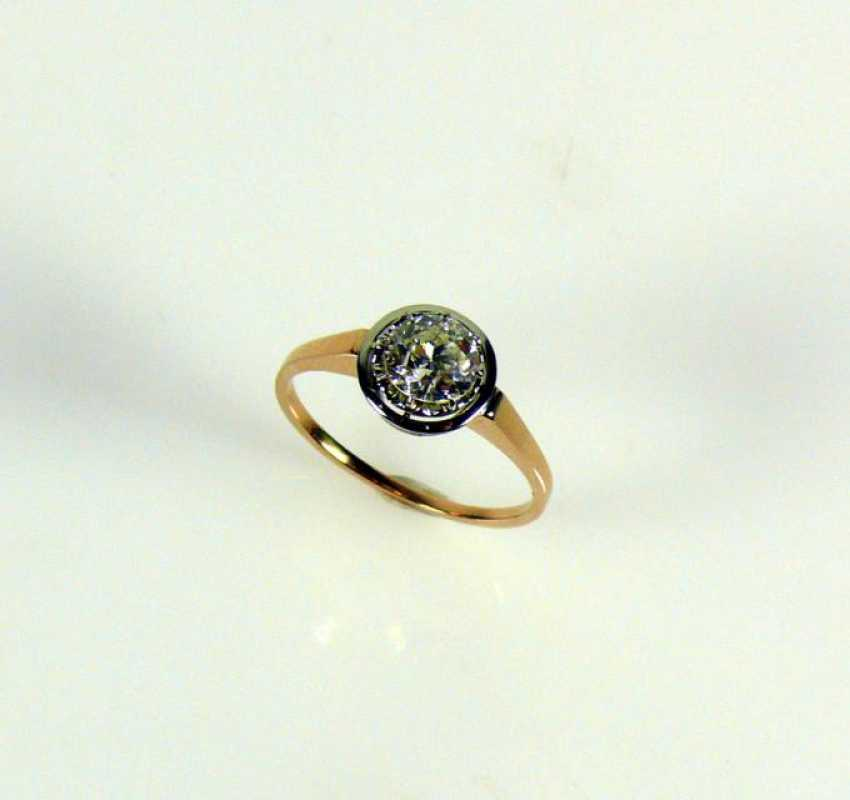 Solitaire Diamond Ring - photo 1
