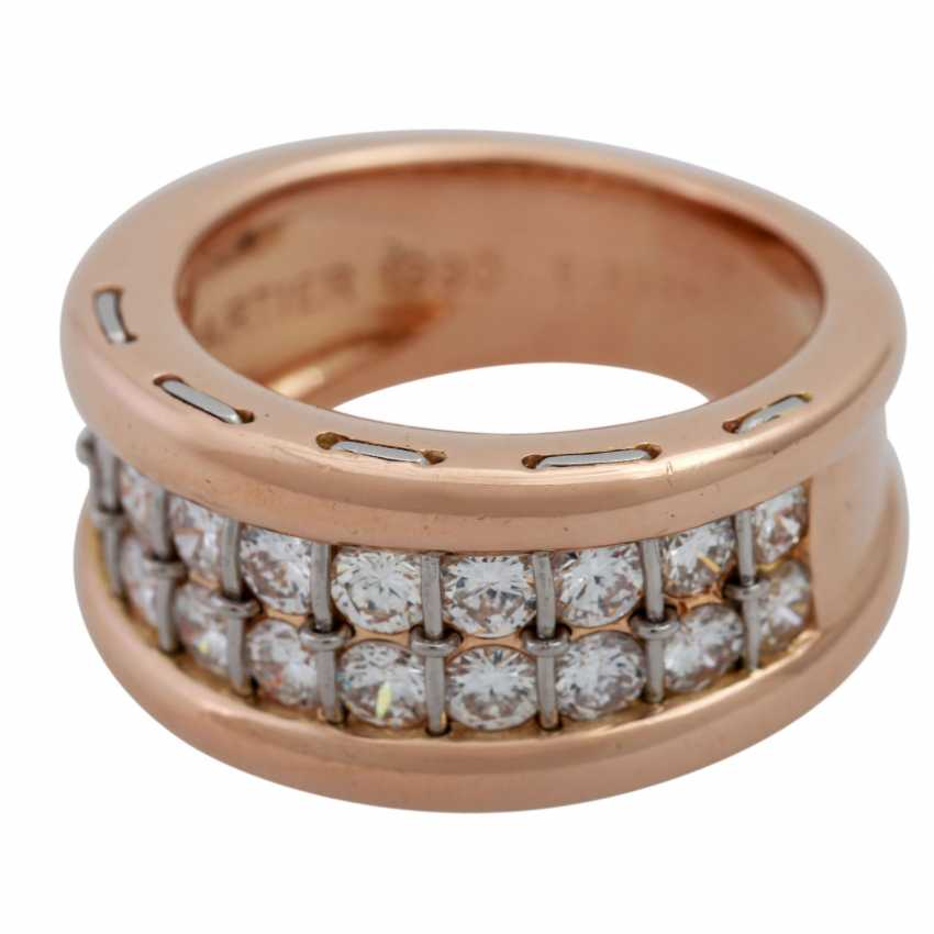 CARTIER ring with diamonds, together approx. 1.4 ct, - photo 5