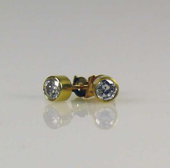 Pair Of Brilliant Stud Earrings - photo 1