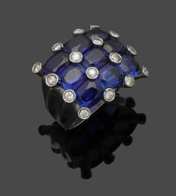Cocktail ring with sapphire trim - photo 1