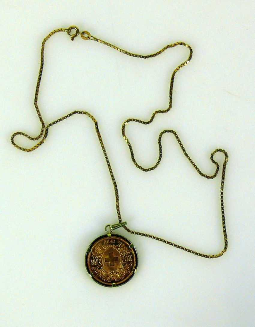 Neck chain with coin pendant - photo 1