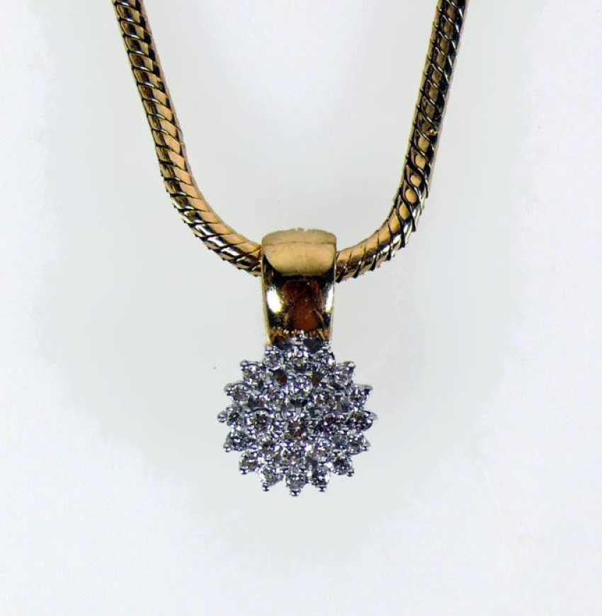 Necklace with brilliant pendant clip - photo 1