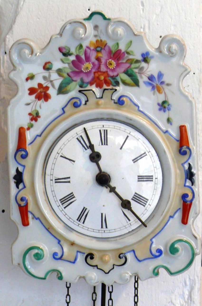 Porcelain Plate Wall Clock - photo 1