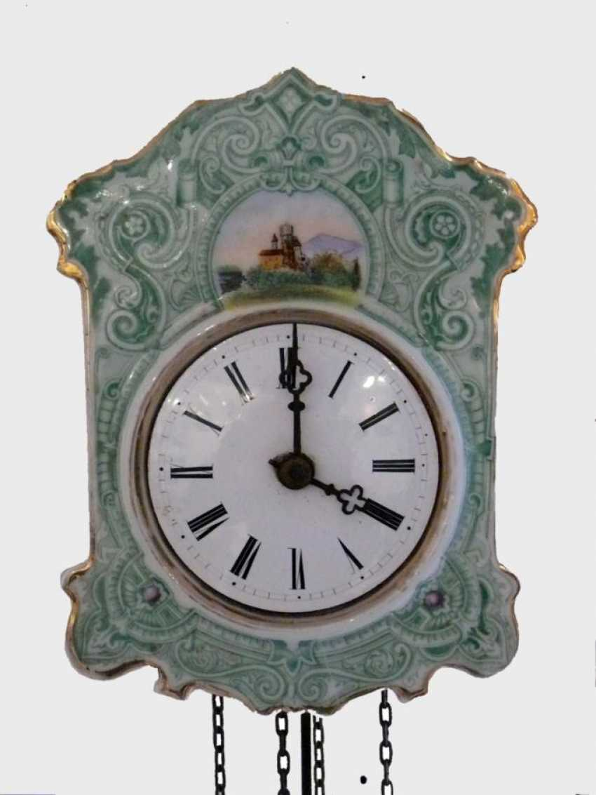 Porcelain Plate Wall Clock - photo 1