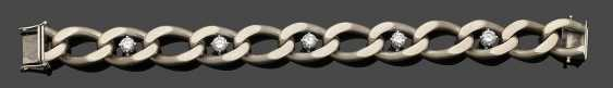 Heavy flat curb bracelet with brilliant-Solitary - photo 1