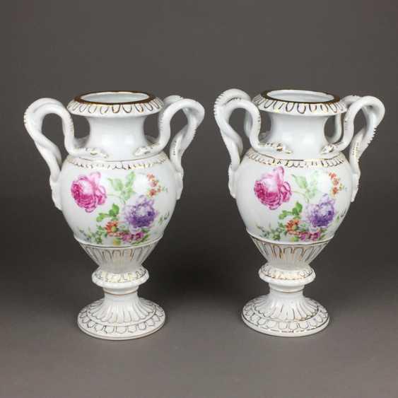 Pair of snake handle vases - photo 1