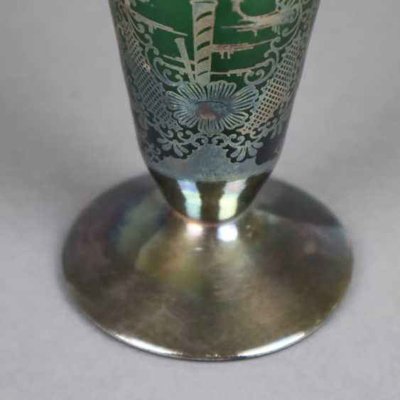 Vase and ashtray with silver overlay - photo 2