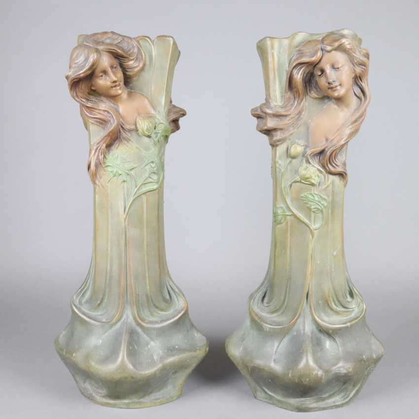 Pair of Art Nouveau vases - photo 1