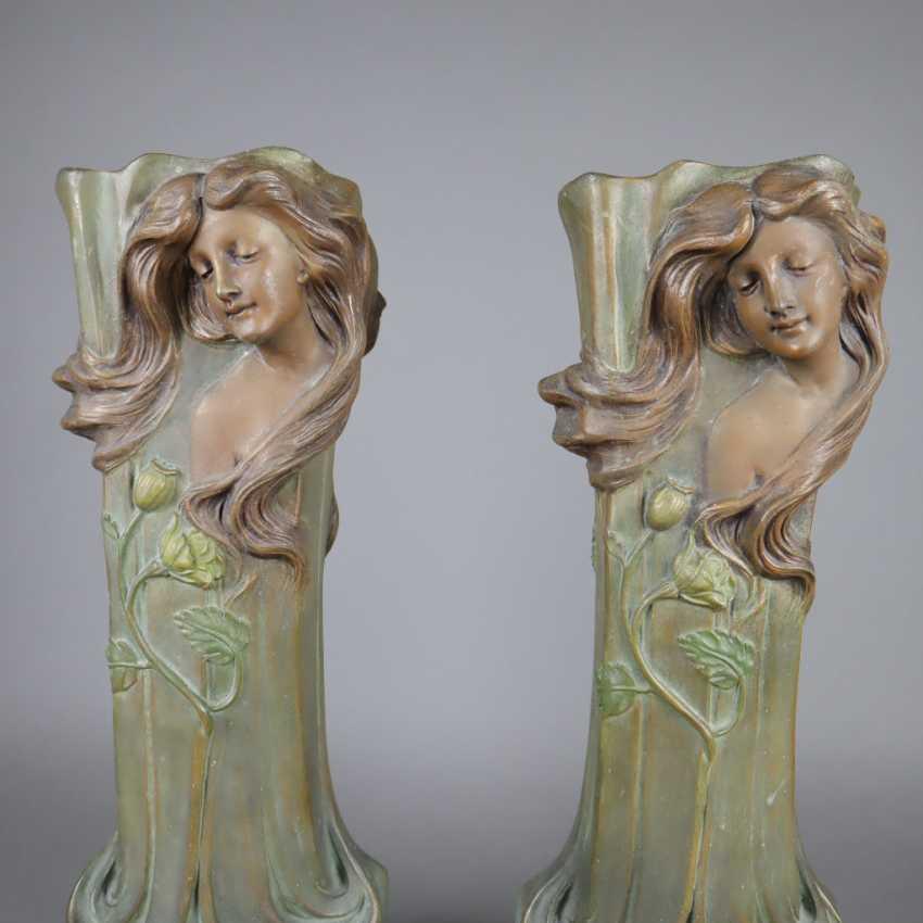 Pair of Art Nouveau vases - photo 7