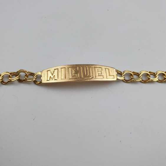 Link bracelet with name plaque - photo 3