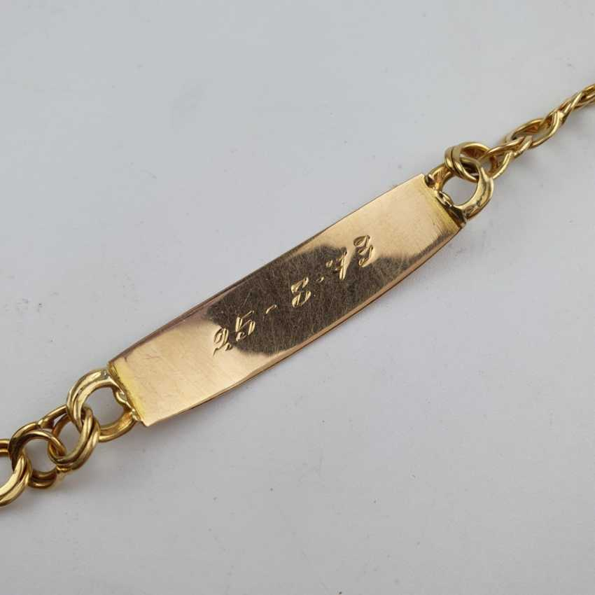 Link bracelet with name plaque - photo 6