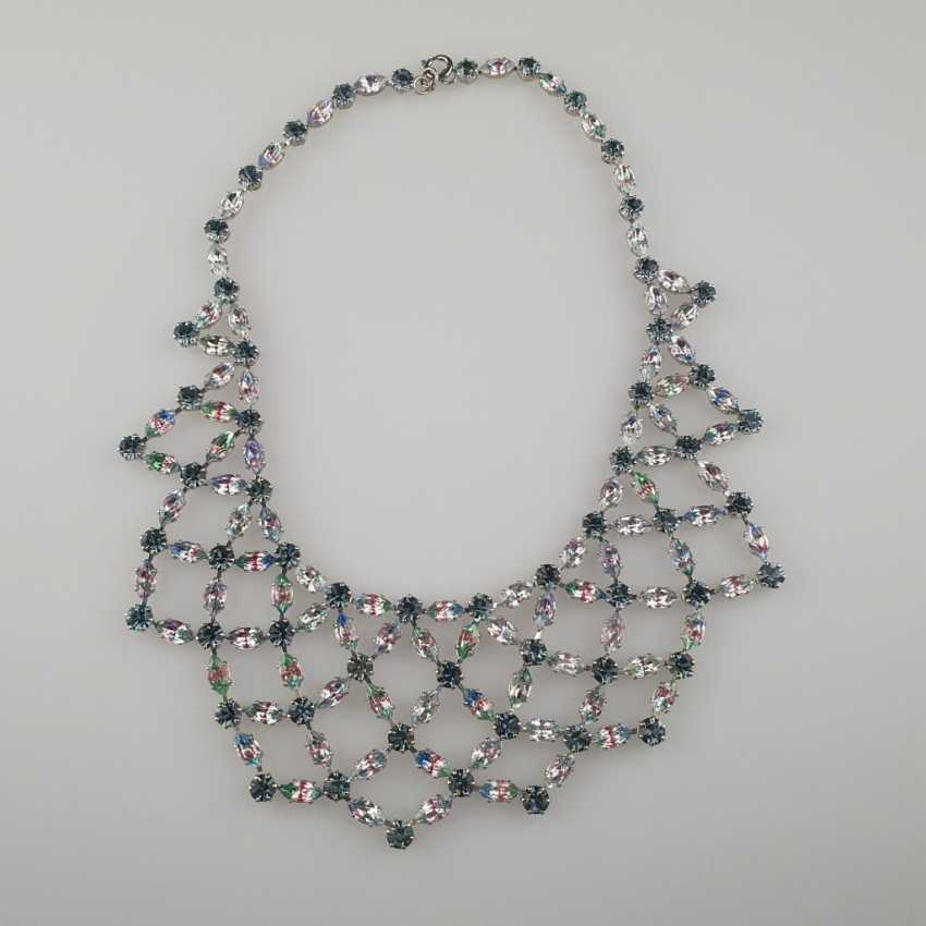 Magnificent vintage necklace with a reticulated middle section - photo 1