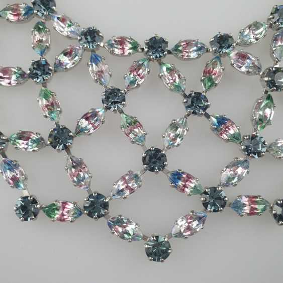 Magnificent vintage necklace with a reticulated middle section - photo 3