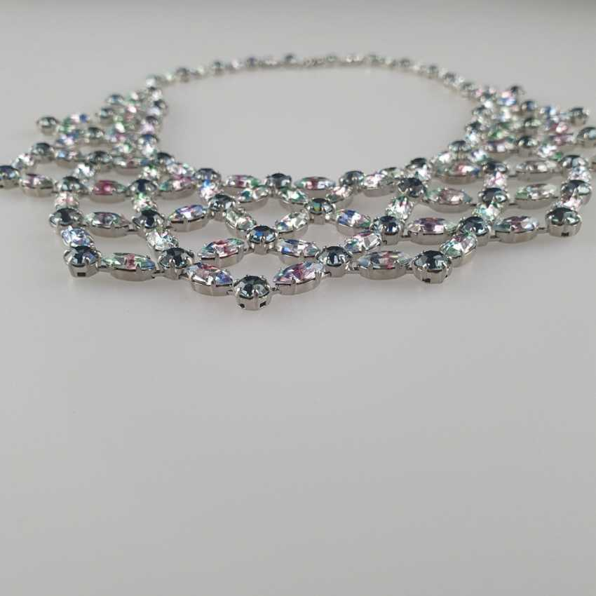 Magnificent vintage necklace with a reticulated middle section - photo 4