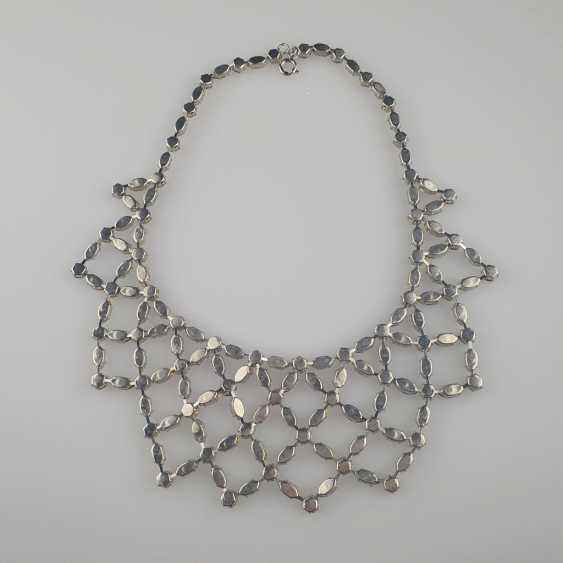 Magnificent vintage necklace with a reticulated middle section - photo 5