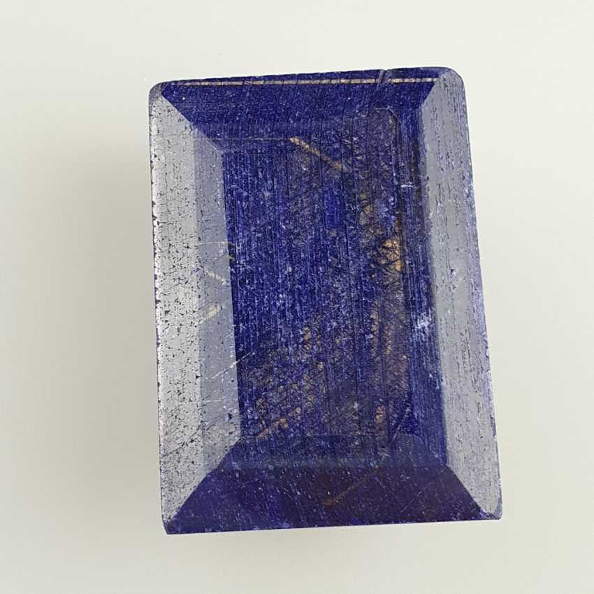 Large cut sapphire blue sapphire, rectangular faceted, approx. 429 ct, loose, with certificate - photo 2