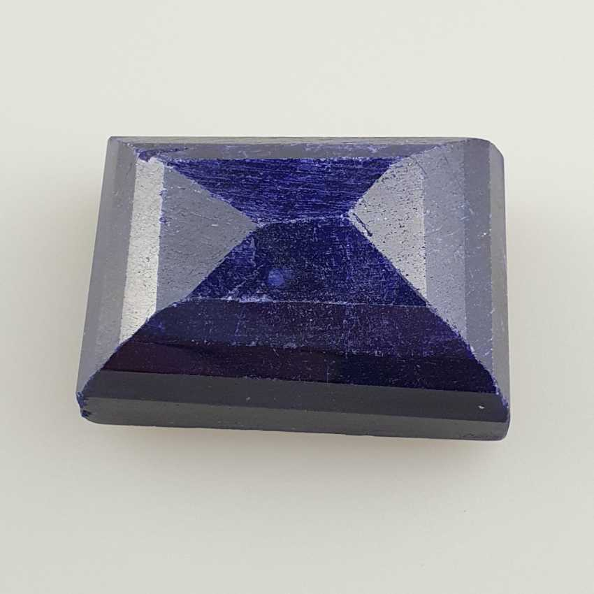 Large cut sapphire blue sapphire, rectangular faceted, approx. 429 ct, loose, with certificate - photo 4