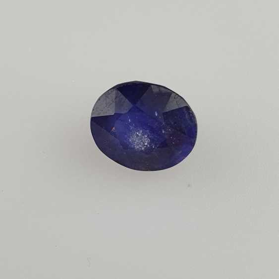Loose sapphire blue sapphire, oval faceted, approx 9.12ct, with IDT certificate - photo 2