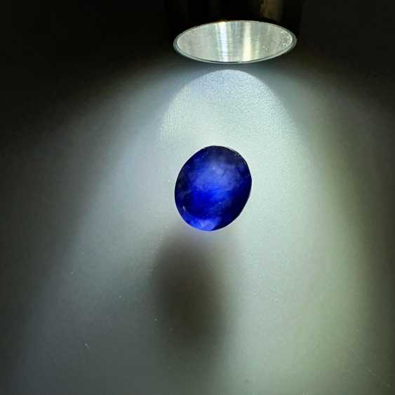 Loose sapphire blue sapphire, oval faceted, approx 9.12ct, with IDT certificate - photo 6