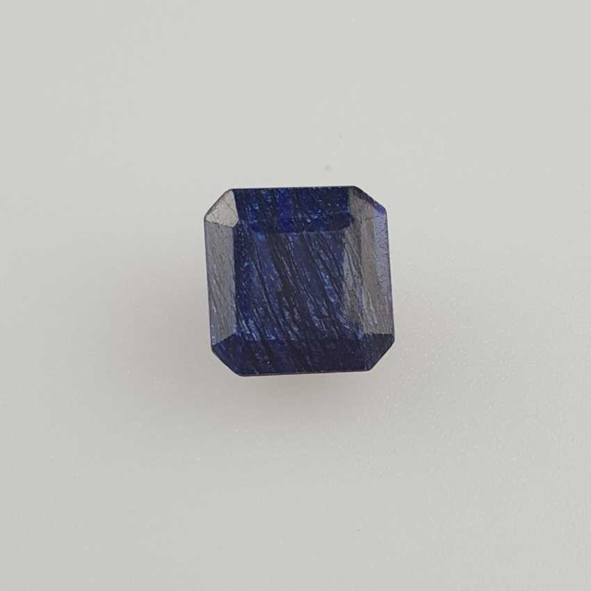 Blue sapphire, octagonal faceted, 10.60 ct, loose, with certificate - photo 1