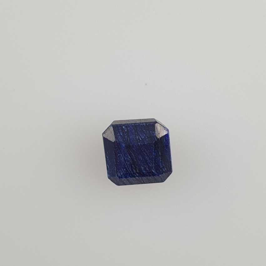 Blue sapphire, octagonal faceted, 10.60 ct, loose, with certificate - photo 2