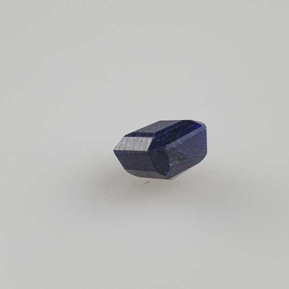 Blue sapphire, octagonal faceted, 10.60 ct, loose, with certificate - photo 3